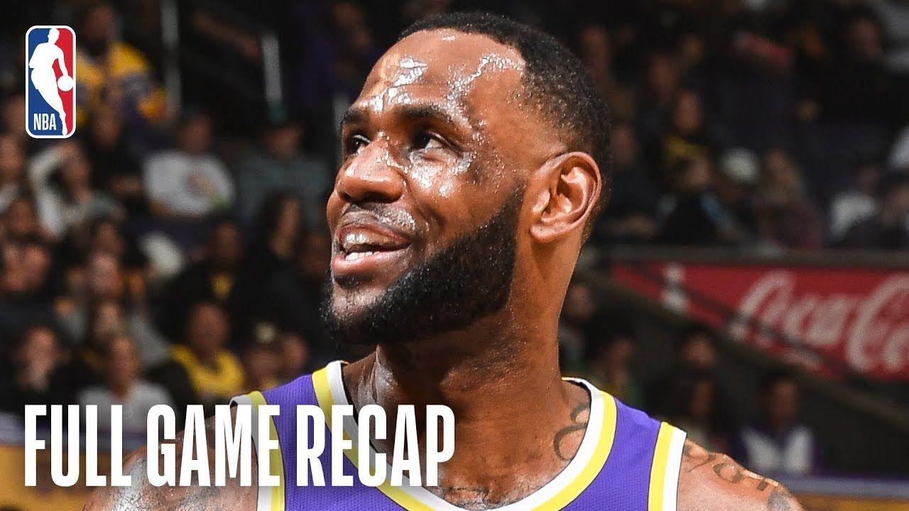 Pelicans Vs Lakers Lebron James Drops 33 Points Against New Orleans With Images Lebron James Nba League Pass Brandon Ingram
