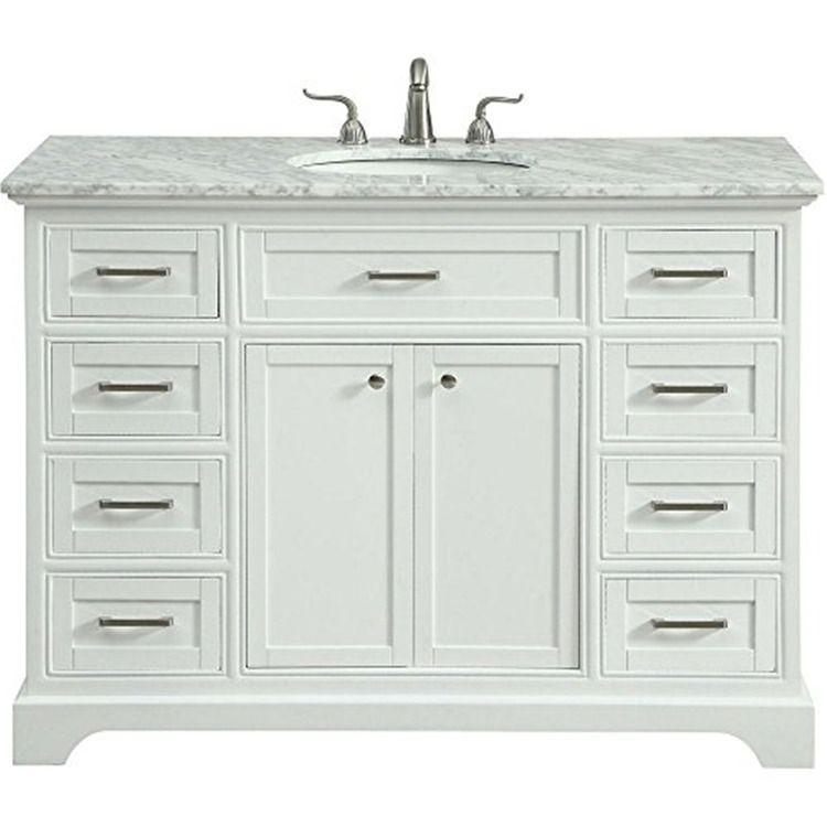 48 In Single Bathroom Vanity Set In White 1916 00 In 2021 Single Bathroom Vanity Bathroom Vanity Vanity White bathroom vanity set