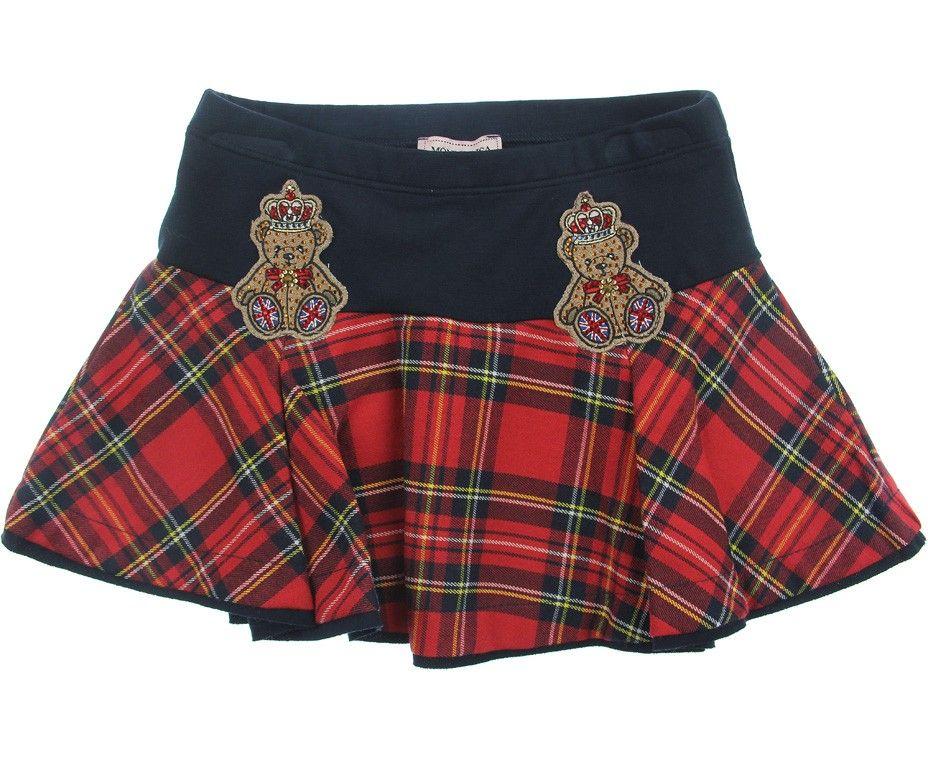 7b48a556c1 Monnalisa Junior Girls Red Tartan Skirt | ekose | Red tartan skirt ...