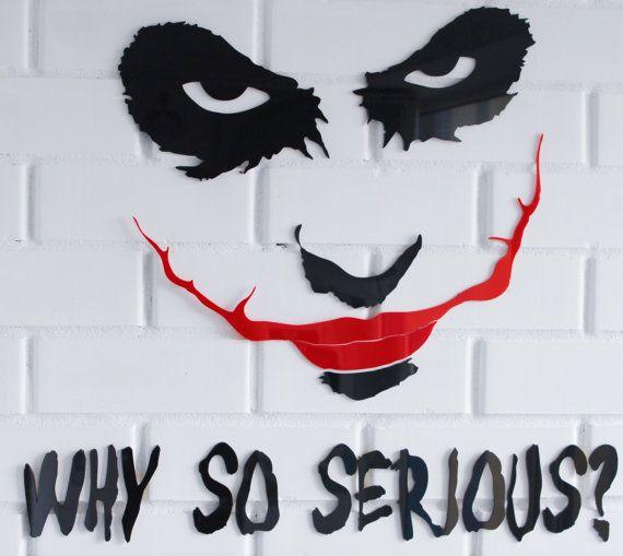 Joker Why So Serious Batman The Dark Knight 3D Acrylletters