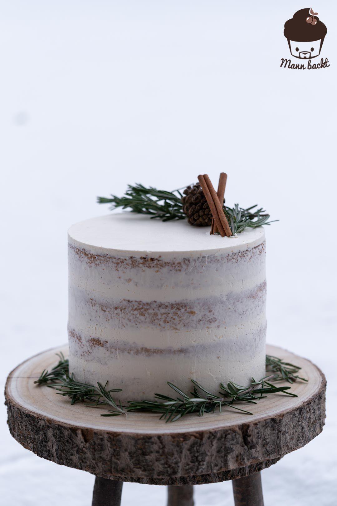 Photo of Pastel desnudo de invierno – receta y tutorial – hombre hornea