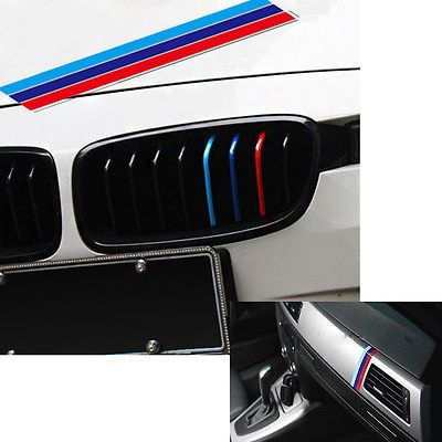 Colour Stripes Sticker Vinyl Decal Badge Kidney Grill M Sport - Bmw m colored kidney grille stripe decals