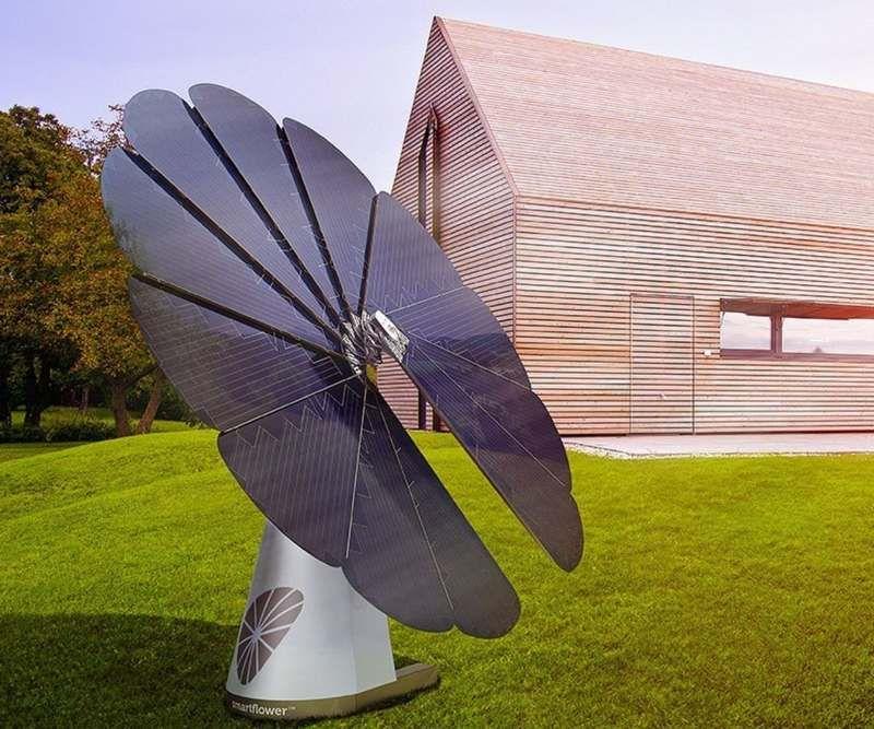 smartflower solar panel nergie solaire et technologie. Black Bedroom Furniture Sets. Home Design Ideas