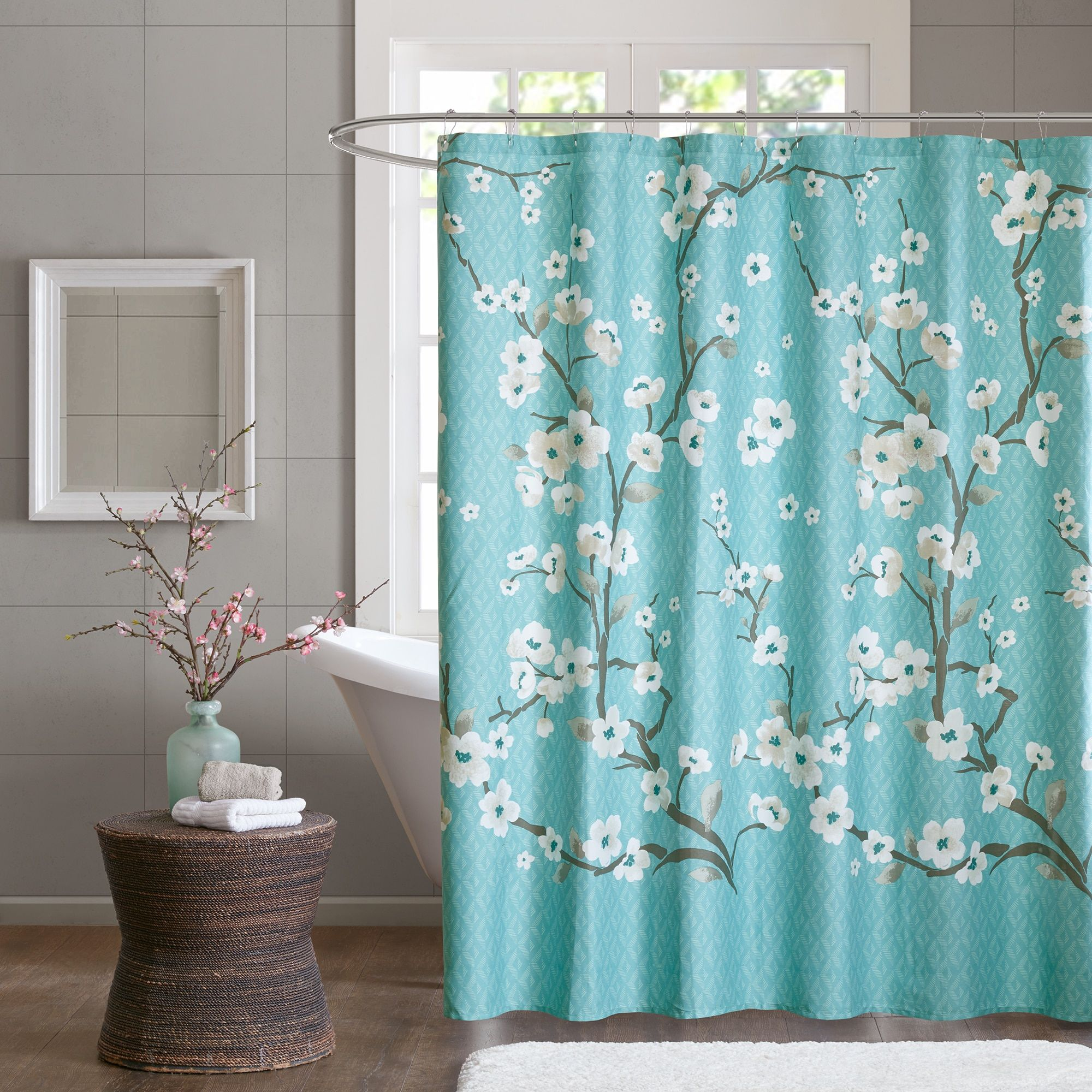 Madison Park Isabella Printed Shower Curtain 2 Color Options ...