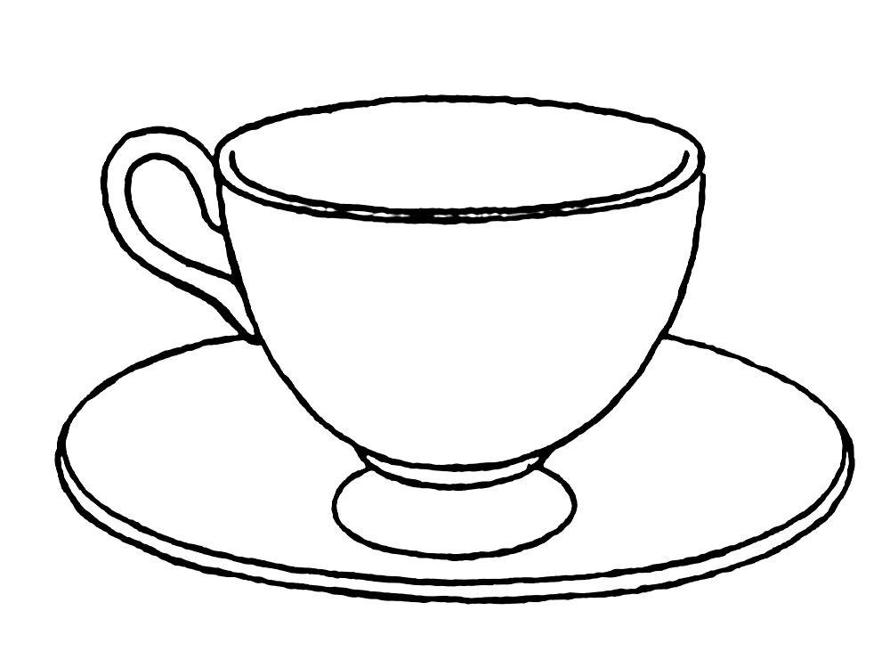 Dibujos De Vajillas Para Colorear Tea Cup Drawing Free Printable Coloring Pages Coloring Pages