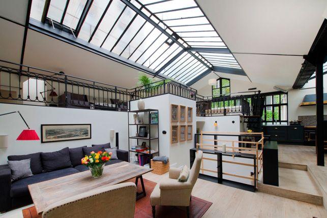les 8 plus beaux lofts et ateliers d artistes paris photoreportage loft pinterest. Black Bedroom Furniture Sets. Home Design Ideas