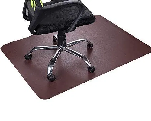 Dark Cherry Office Chair Mat and Under Computer Desk Pad