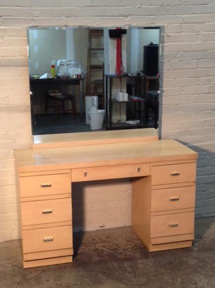 wonderful modern bedroom vanity table   Wonderful Mid-Century Modern 7-Drawer VANITY / Dressing ...