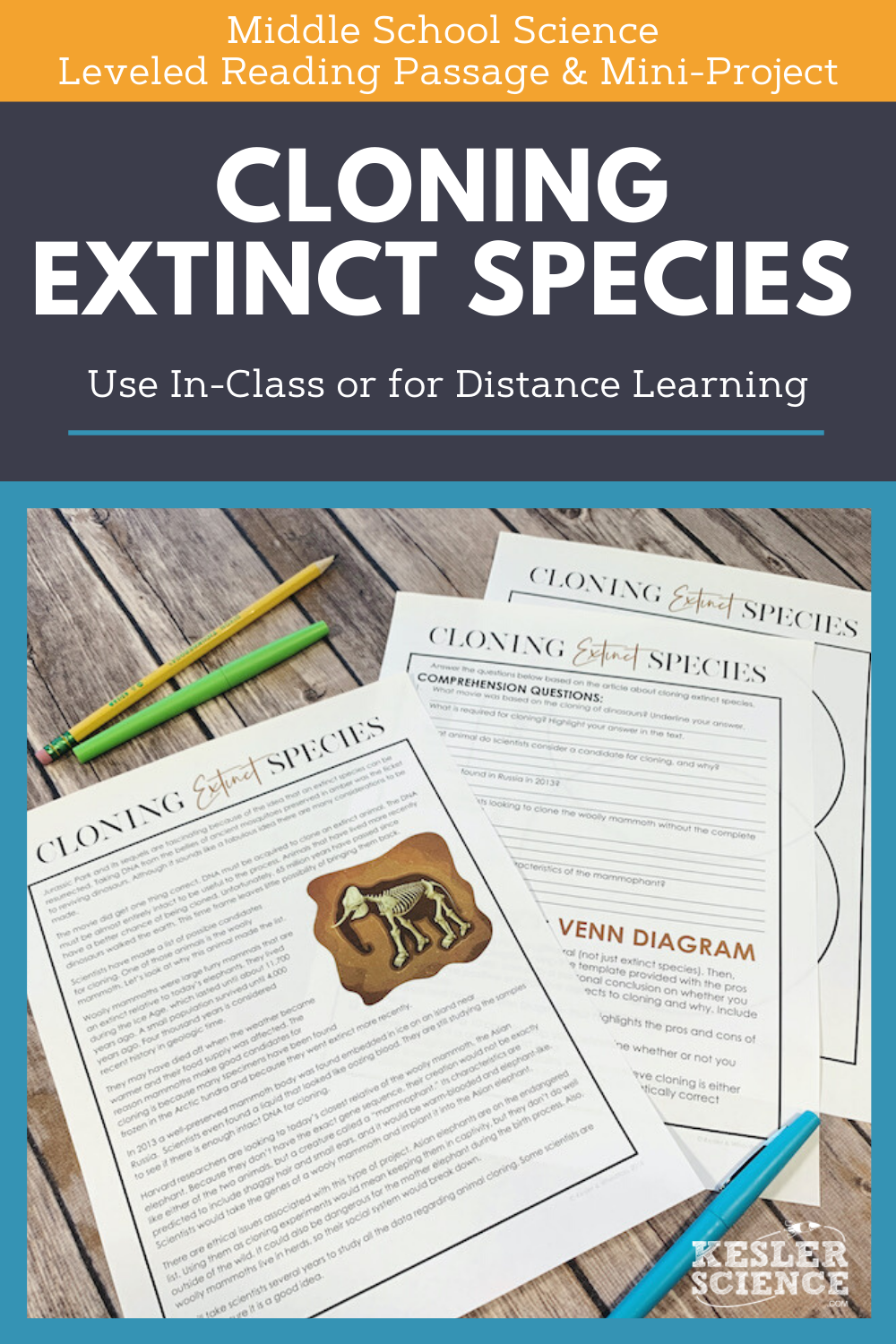 Science Reading Comprehension Cloning Extinct Species Science Reading Comprehension Science Reading Science Writing [ 1500 x 1000 Pixel ]