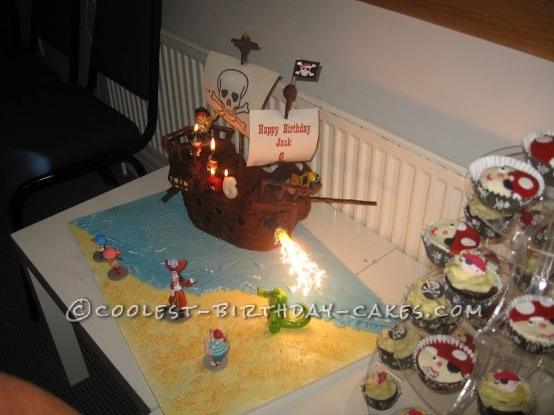 Jake and the Neverland Pirates Ship Cake Pirate ship cakes