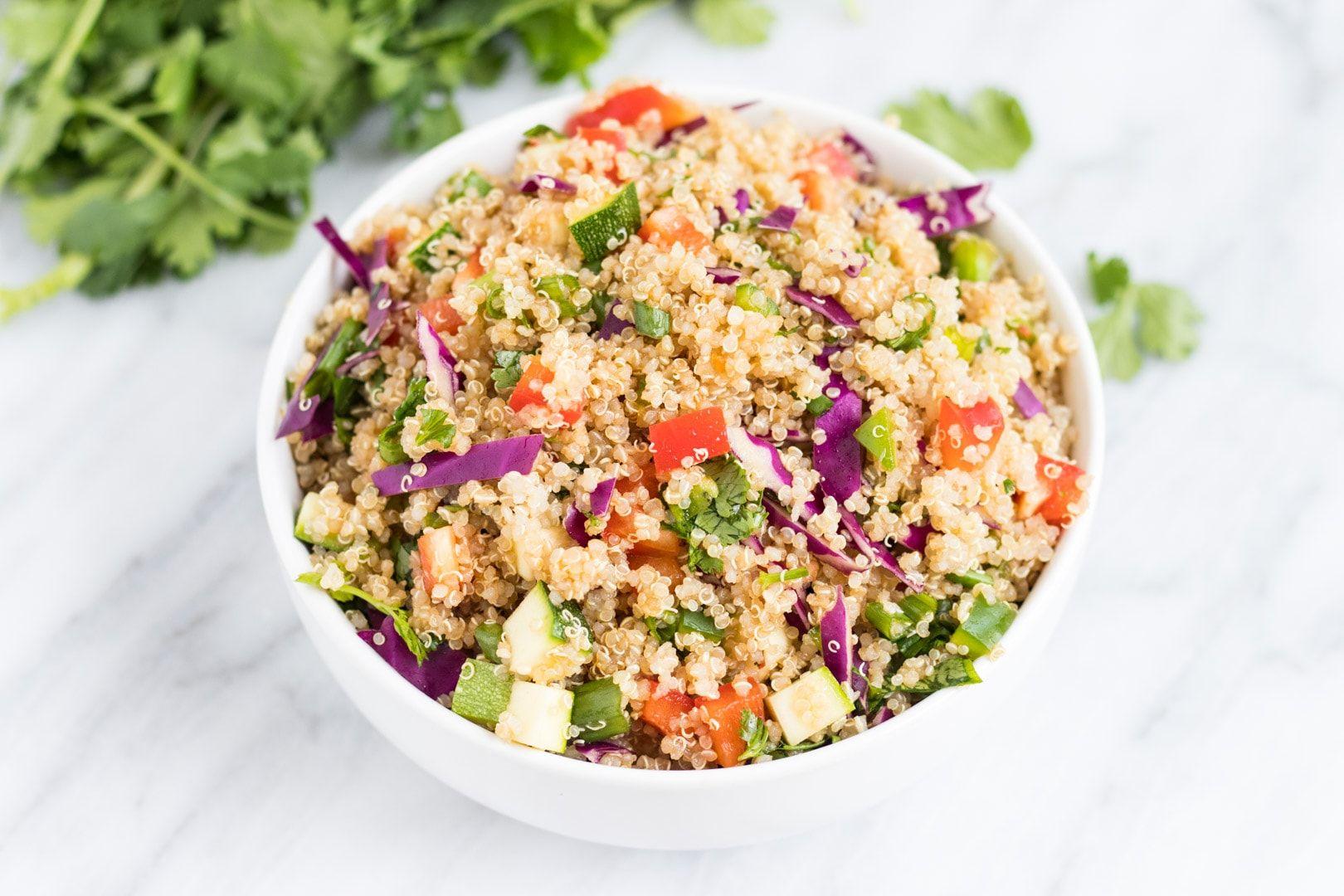 Quinoa Salad Bowl | Rather Luvly