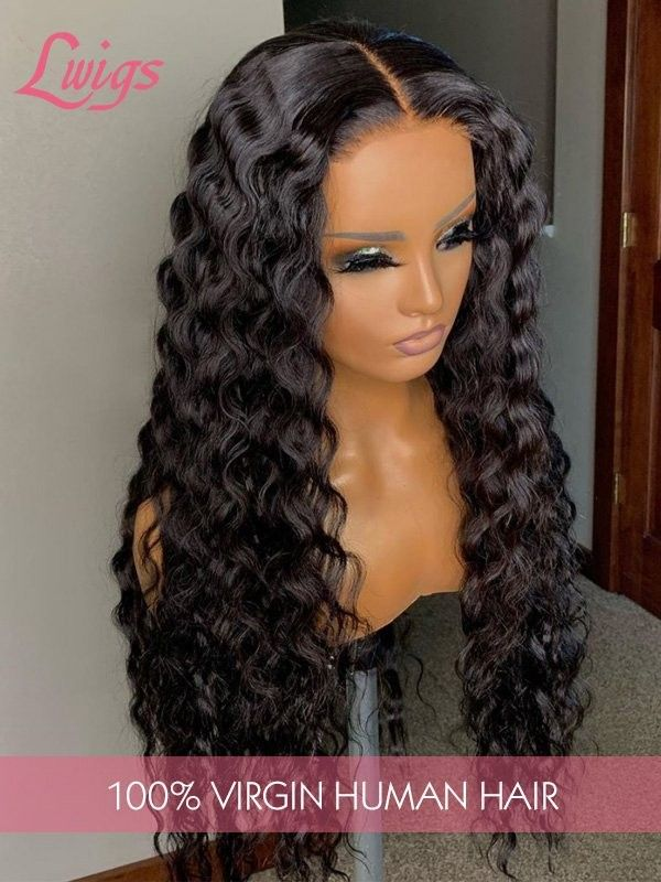 8A Virgin Hair Undetectable Dream Swiss Lace Kinky Curly 360 Lace Wig Pre-plucked Natural Hairline 360 Lace Frontal Wigs LWigs14 #lacewigs