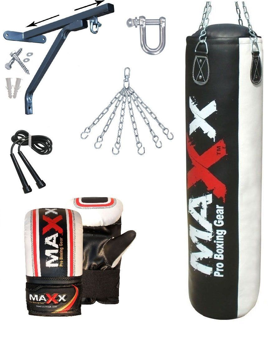 Heavy Gym Iron Bracket Fitness 5Ft Punch Bag Boxing MMA Wall Bracket For Pros