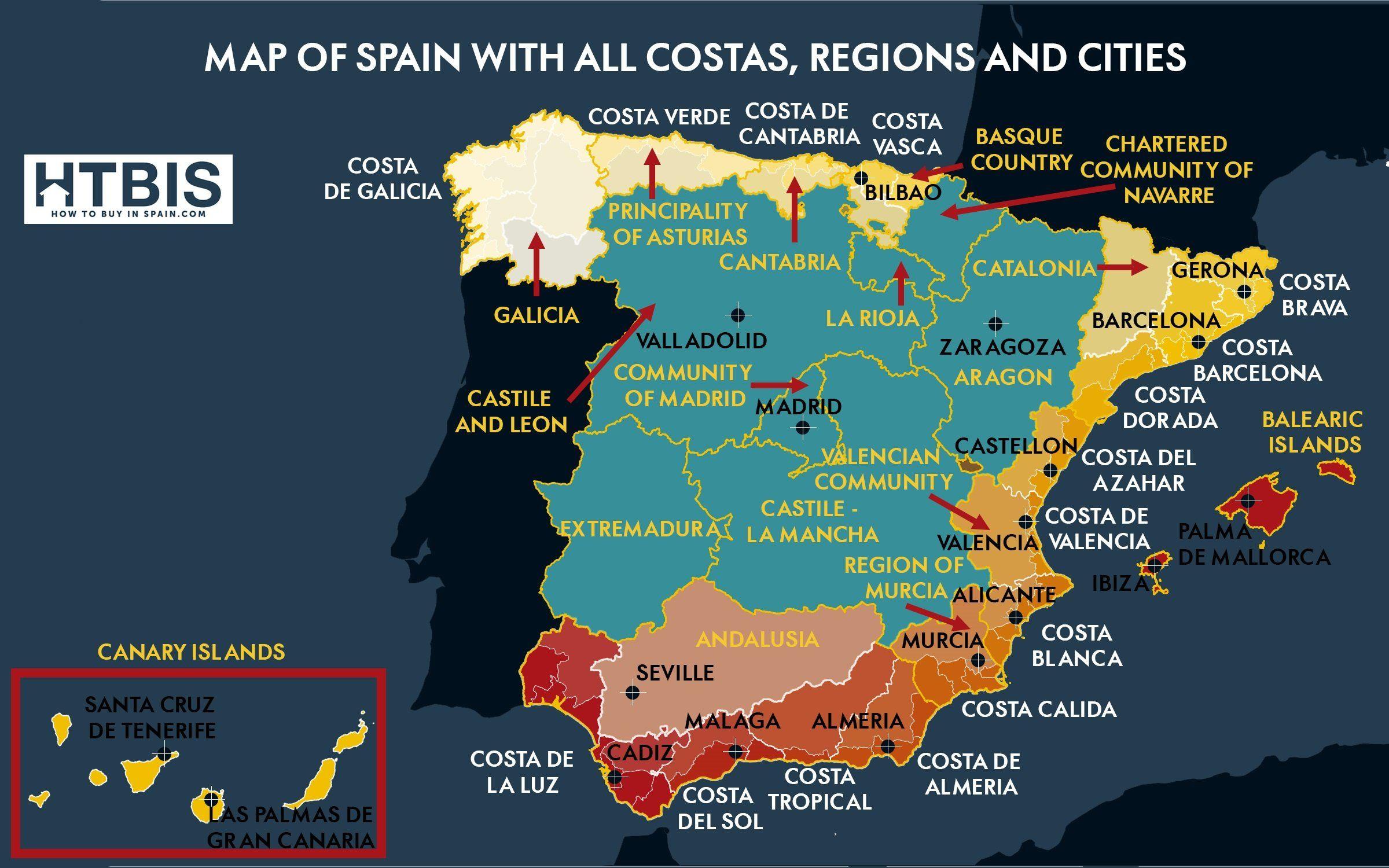 Imgur Com Map Of Spain Spain Wild Camp