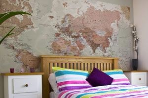 Denim map of the world wall maps custom wall and dream rooms executive world map wallpaper wm816 maps international gumiabroncs Image collections