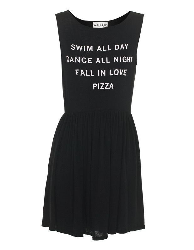 Pizza Party 90's Clean Black by JadesFashion