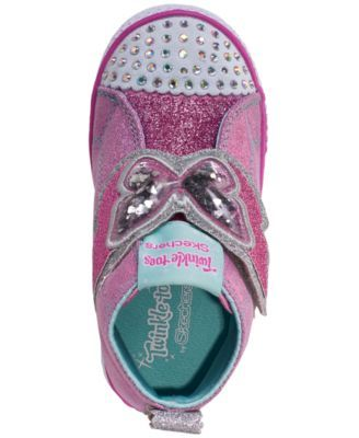 Skechers Toddler Girls' Twinkle Toes: Shuffle Lite Flutter