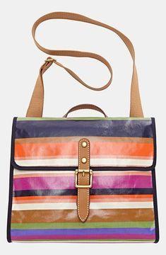 5e8390b882f7ea Fossil 'Key-Per' Coated Canvas Shoulder Bag Stripe on shopstyle.com ...