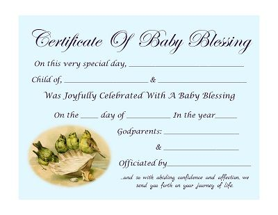 Free Printable Baby Blessing Certificate Trulytruly Net Baby