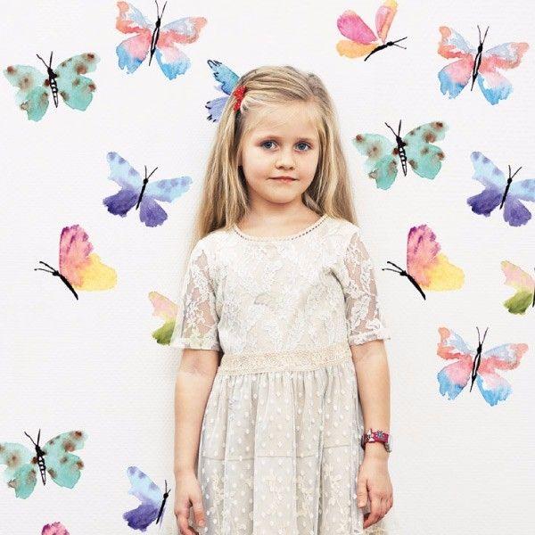 Water Color Butterflies. mariposas de colores. Infantil. My vinilo. vinilos decorativos. decoración de pared. papel tapiz. Decohunter. Encuentra donde comprar este producto en Colombia