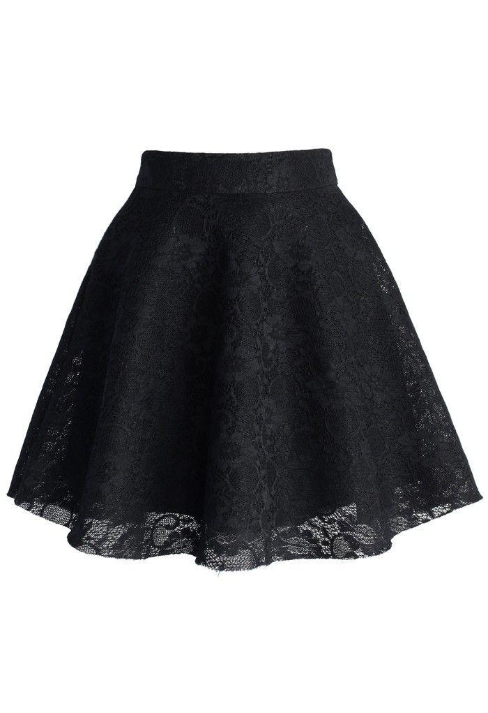 Afbeeldingsresultaat voor black lace skirt
