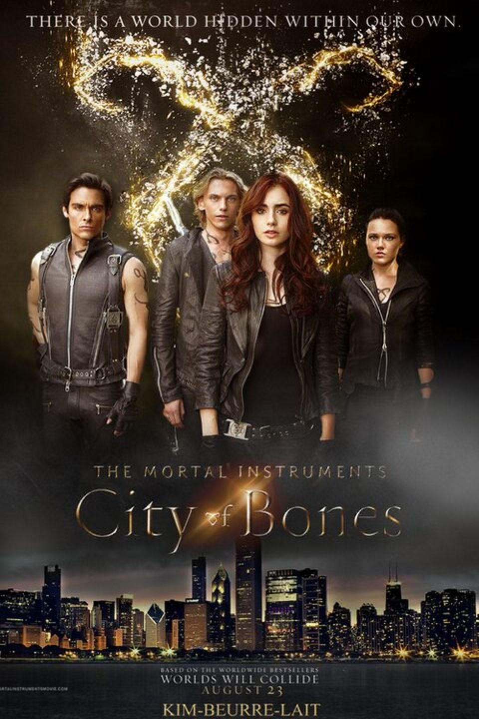 The Mortal Instruments City Of Bones Fan Made I Think Poster With Characters Chroniken Der Unterwelt Schattenjager Filme