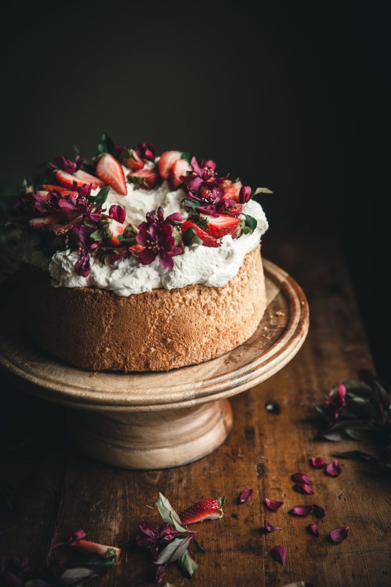 Angel Food Cake Whipped Cream Berries The Kitchen Mccabe Recipe Food Photography Cake Angel Food Cake Recipes