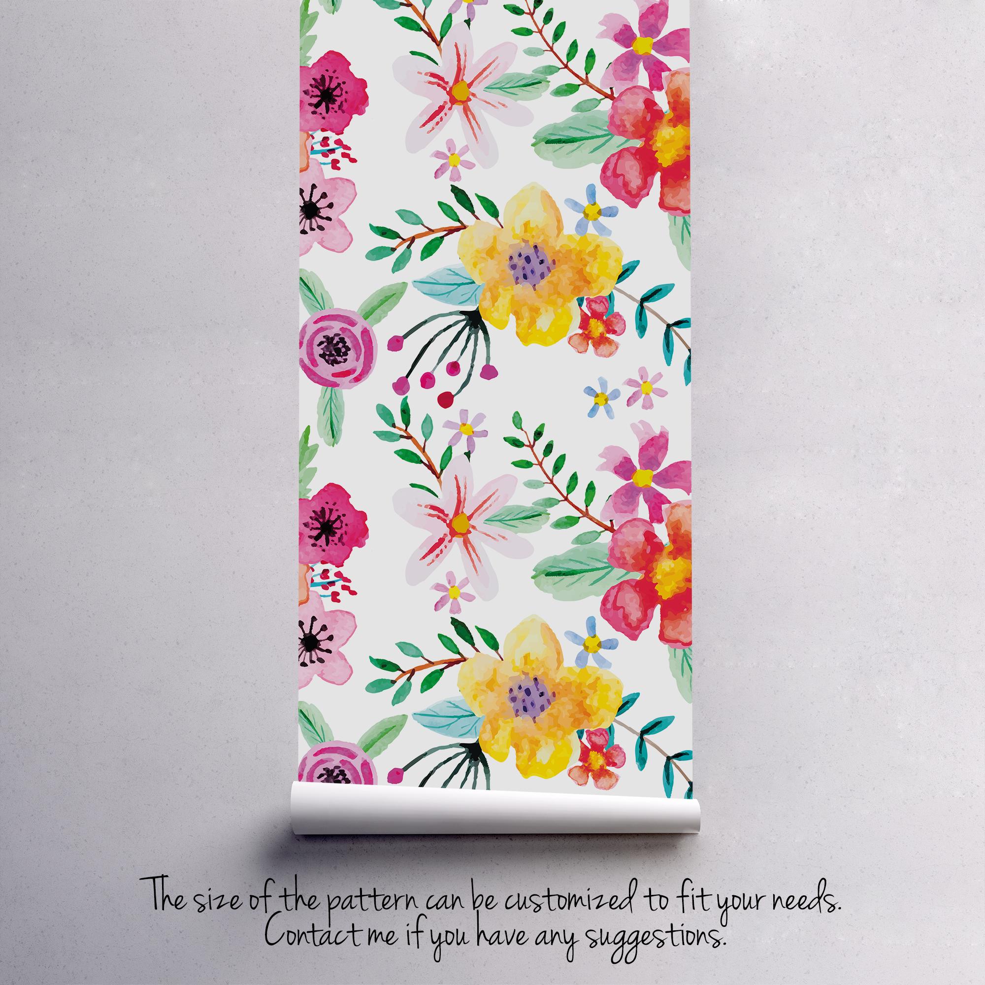 Florist S Dream Removable Wallpaper Floral Wallpaper Removable Wallpaper Wall Murals