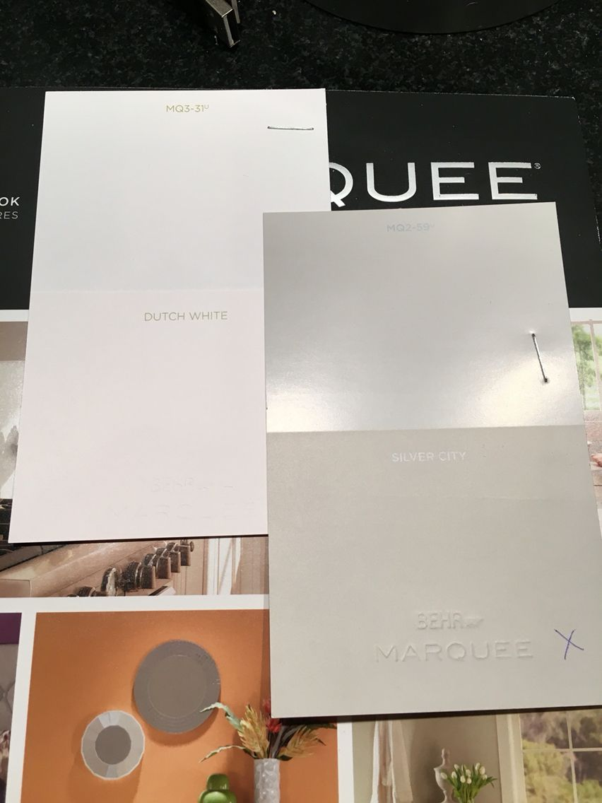 Behr Marquee paint colors- silver city + Dutch white. | Mid century ...