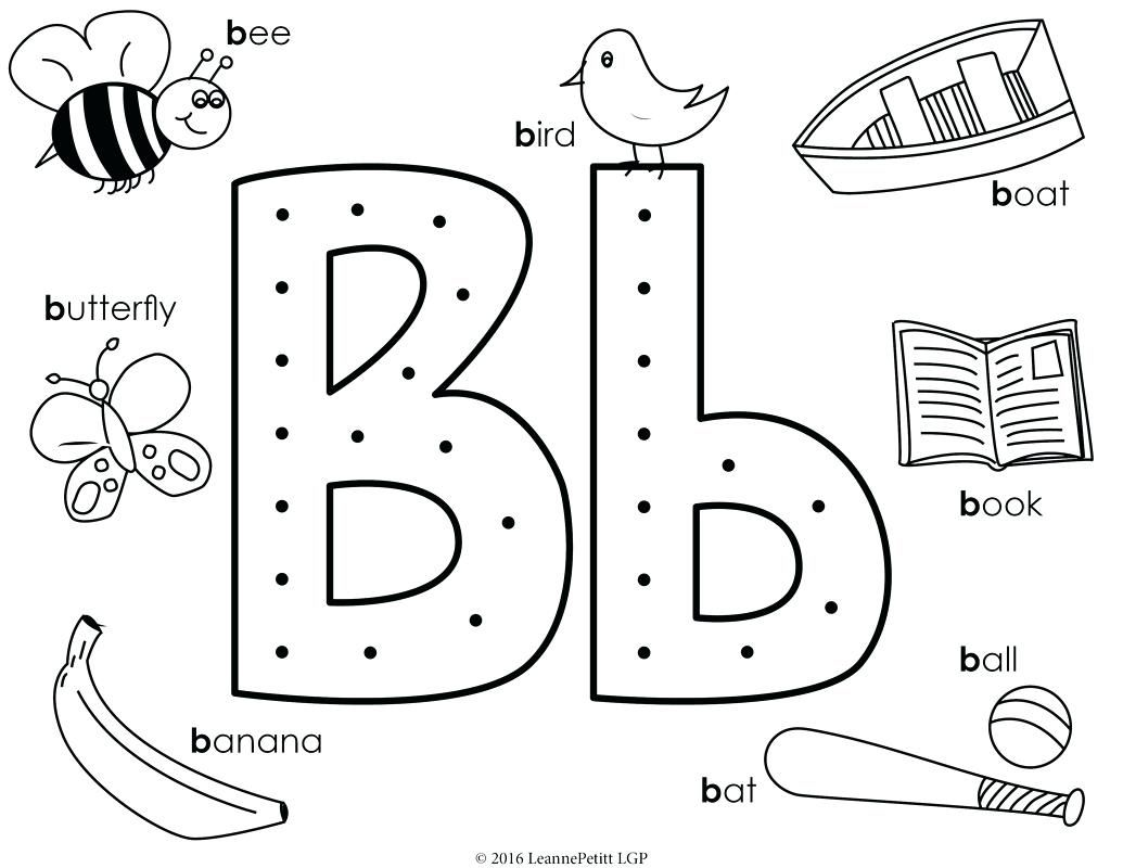 Coloring Pictures Of Bubble Letters Pages Letter B Alphabet Little