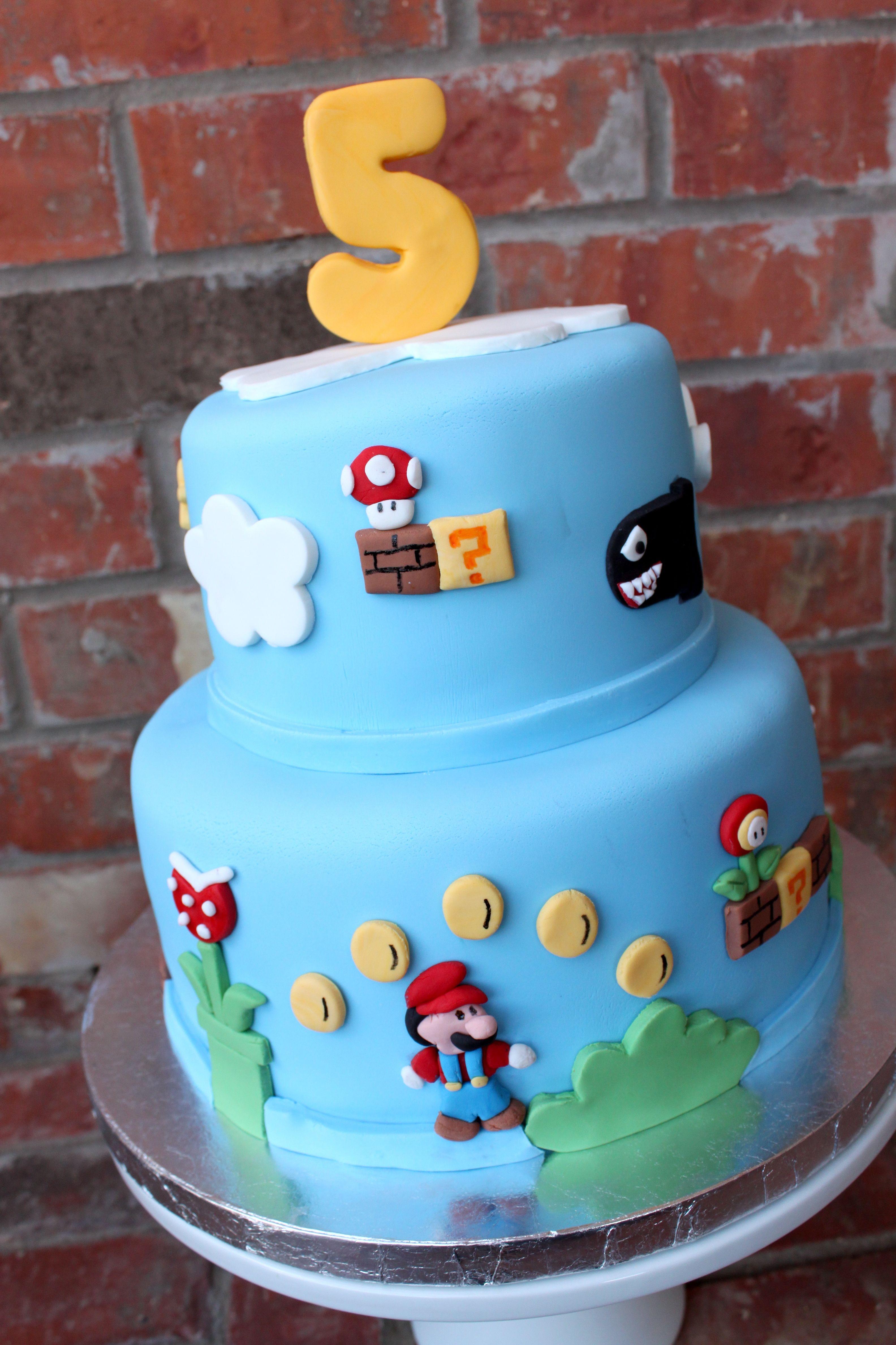 Super Mario Cake Mario Birthday Cake Mario Cake Super