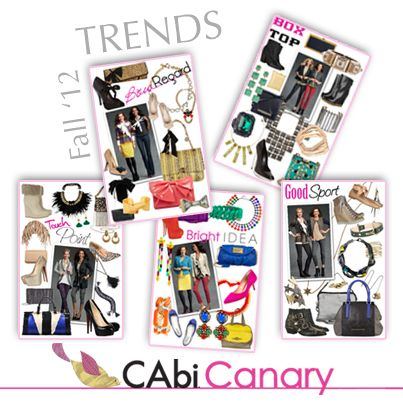 Be sure to check out this week's CAbi Canary for the latest Fall '12 Trends! http://cabicanary.com