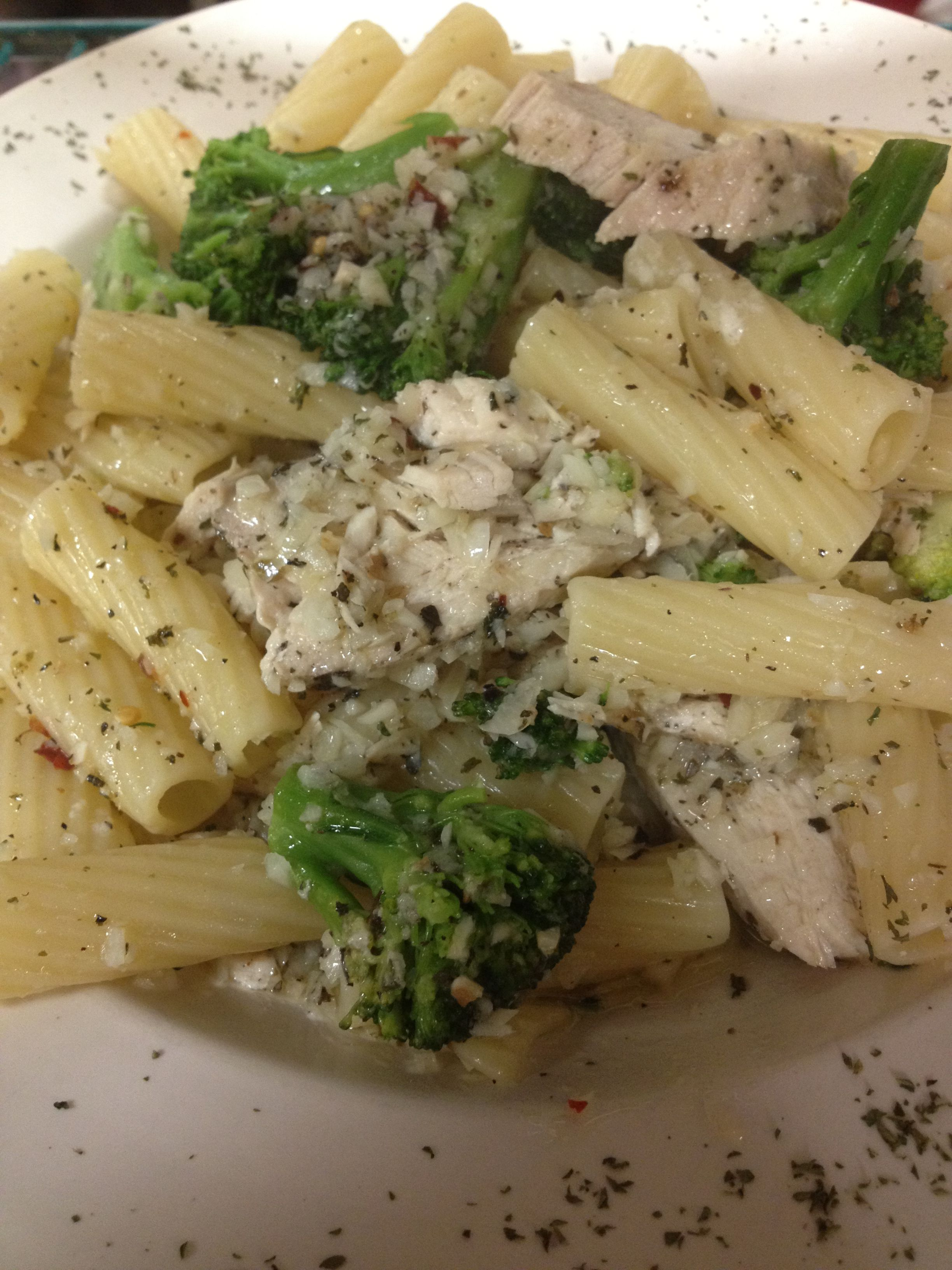 Chicken and Broccoli with Rigatoni