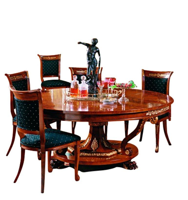 F12 Russian Empire Dining Table With Inlaid Top Traditional Wood Classy Dining Room Empire Decorating Design