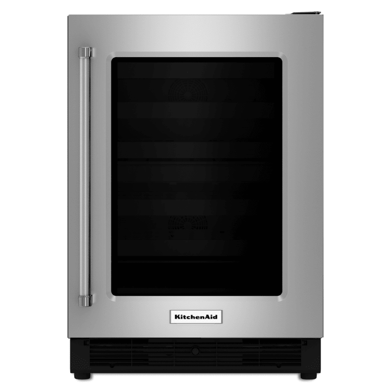 Kitchenaid Kurr204e 24 Inch Wide 5 1 Cu Ft Undercounter Refrigerator With Glas Stainless Steel R Undercounter Refrigerator Kitchen Aid Stainless Steel Fridge