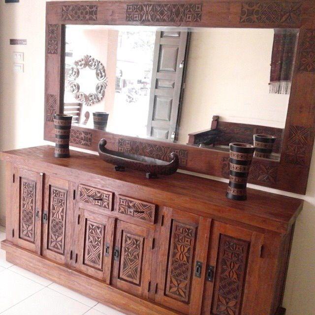 Bufet Hias Toraja Cermin Ide Dekorasi Rumah Mebel Bufet