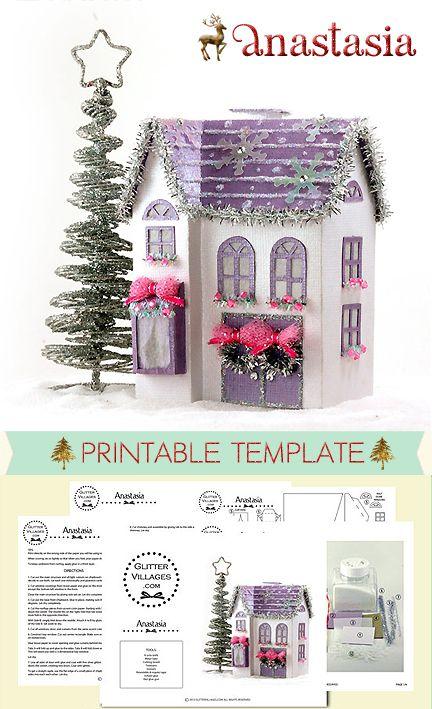Anastasia Christmas Village Houses Glitter Houses Putz Houses