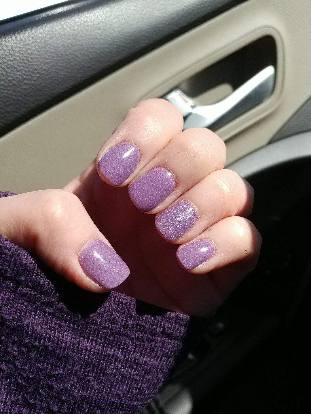 Spring Lavendar With Accent Nail Nexgen Nail Dip Nexgen Nails