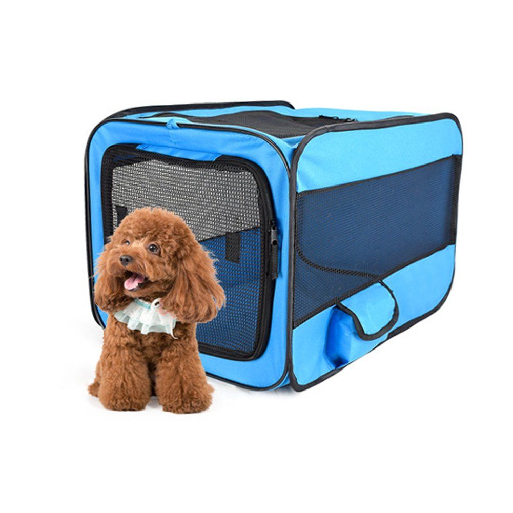 Petenjoy Pet Carrier Crates Portable Expandable Soft Sided Kennel Car Seat Animal Travel Bag Carrier With Mesh T Pet Carriers Pet Carriers Crates Dog Carrier