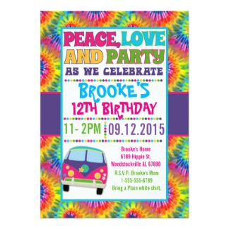 Image Result For Hippie Party Invitation Template Hippie