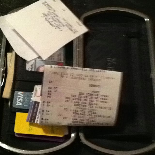 April 8: inside my wallet #photoadayapril