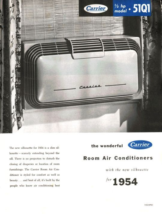 Carrier Ad For A Window Ac Unit 1954 Carrier Air Conditioner