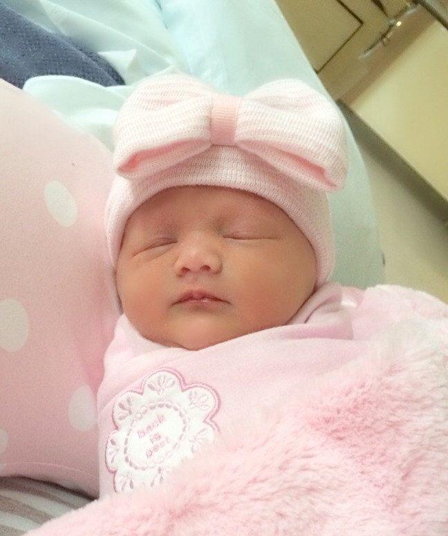 65642318c Newborn GIRL HATS, baby girls newborn hat, baby girl hat, girl baby hat