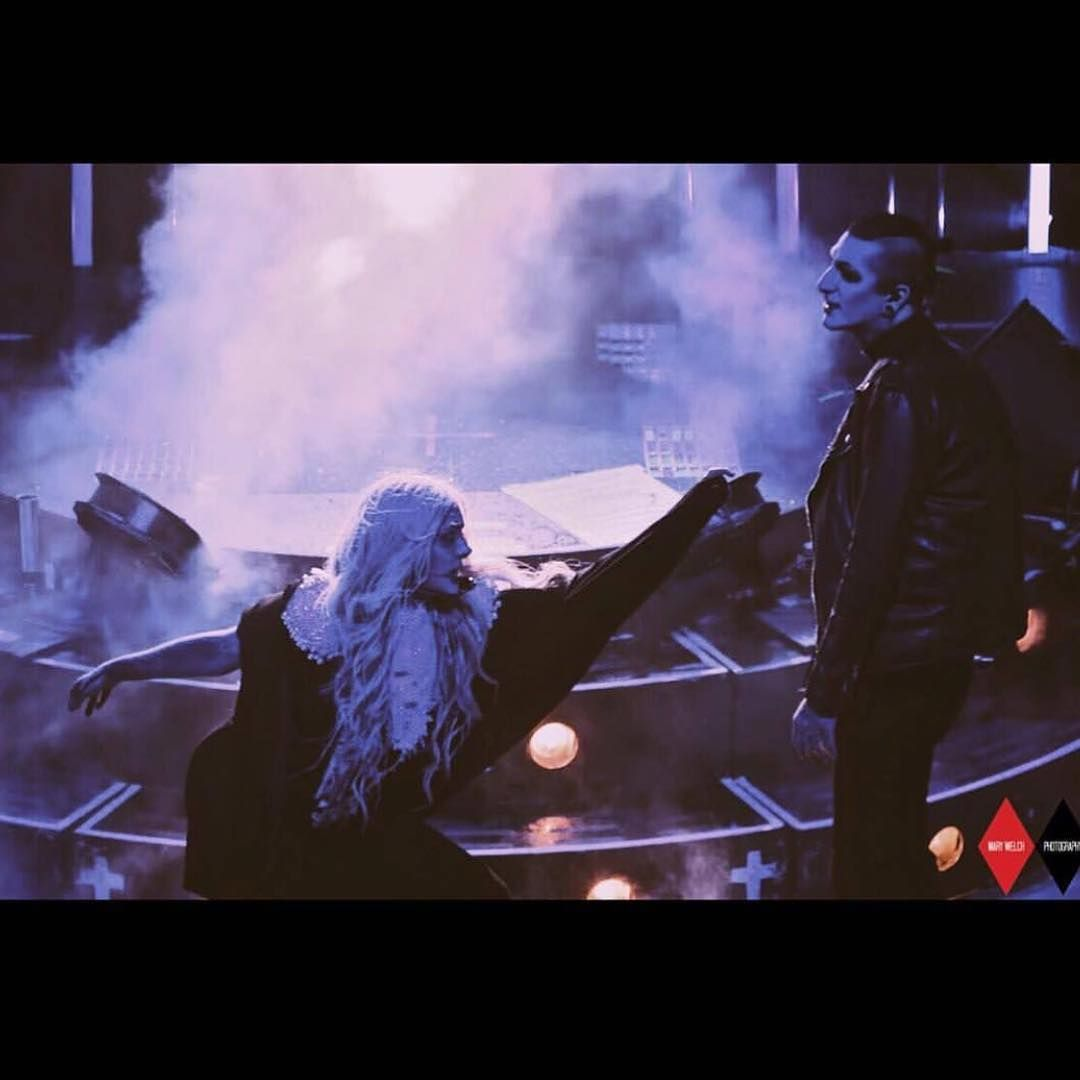 Maria Brink of In This Moment and Chris Motionless of ...