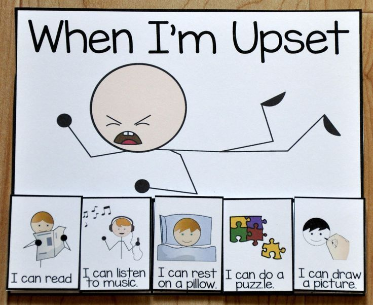 When I'm Upset Card - $1.00 : File Folder Games at