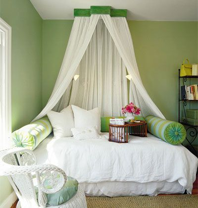 create a canopy for impact in a tiny room