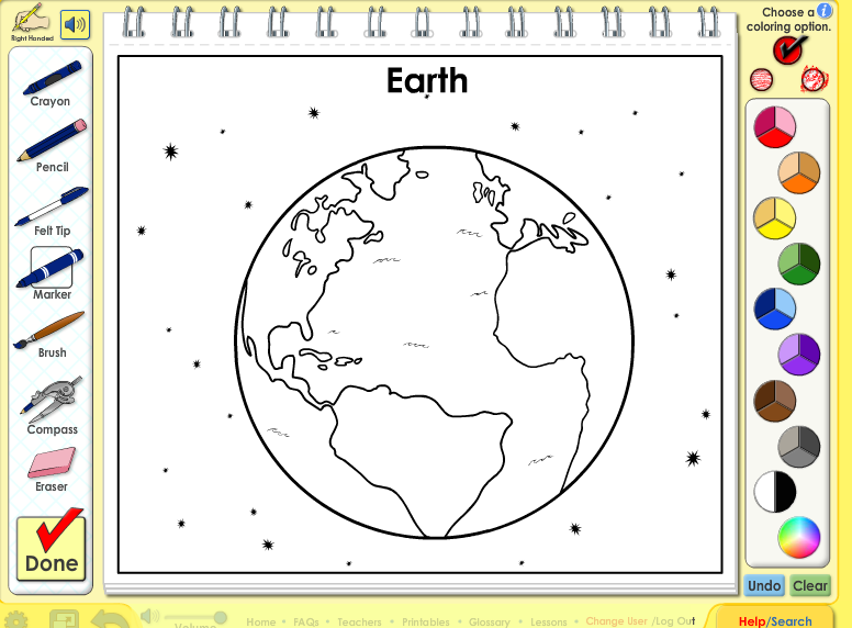 Earth Coloring Abc mouse, Kids learning, Learn to read