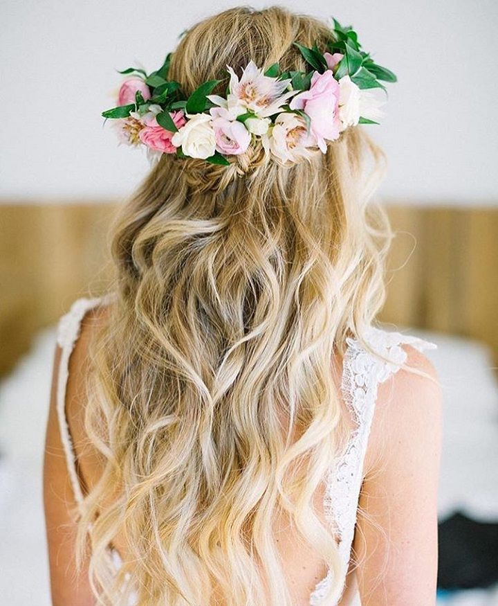 18 Beautiful Wedding Hairstyles Down For Brides And: 32 Pretty Half Up Half Down Hairstyles