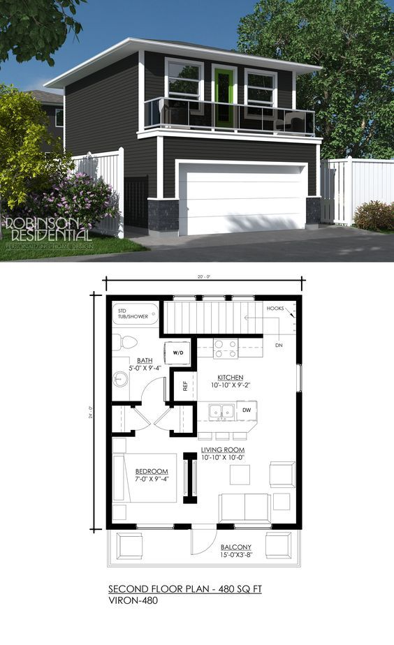 Contemporary Viron-480 in 2020 | Carriage house plans ...