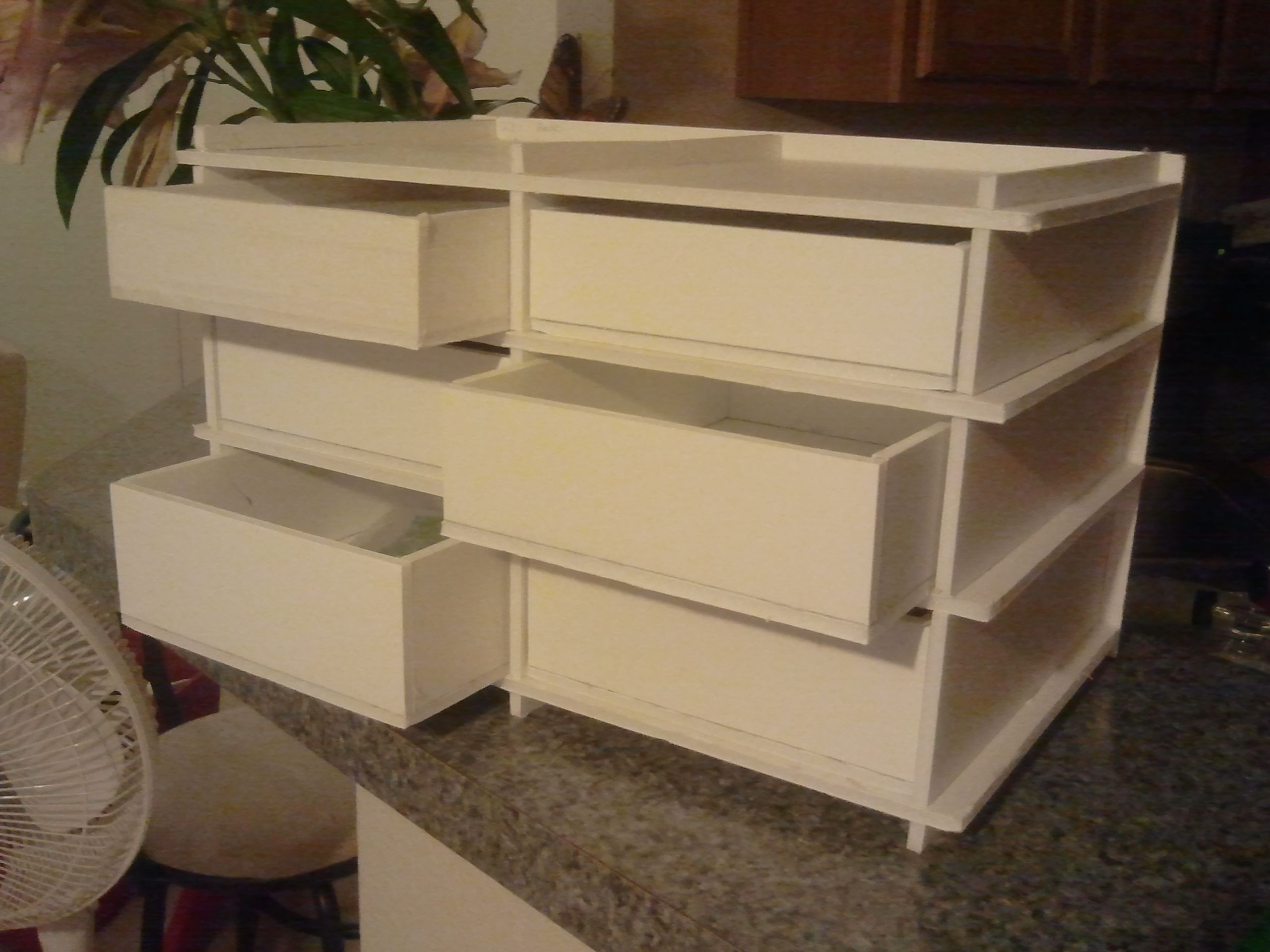 mini 6 drawer foam core foam board foamboard drawer cabinet Foam